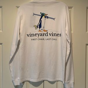 Vineyard Vines First Chair Last Call Pocket Tee